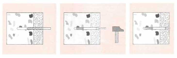 Монтаж дюбля для фасада 10 мм